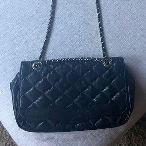 Handbags - Black Double Flap Bag w/Gold Chain